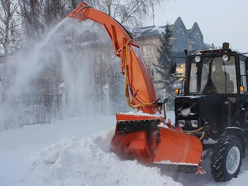 БЕЦЕМА фронтальный снегопогрузчик