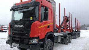 Лесовоз Scania G410B6x4HZ